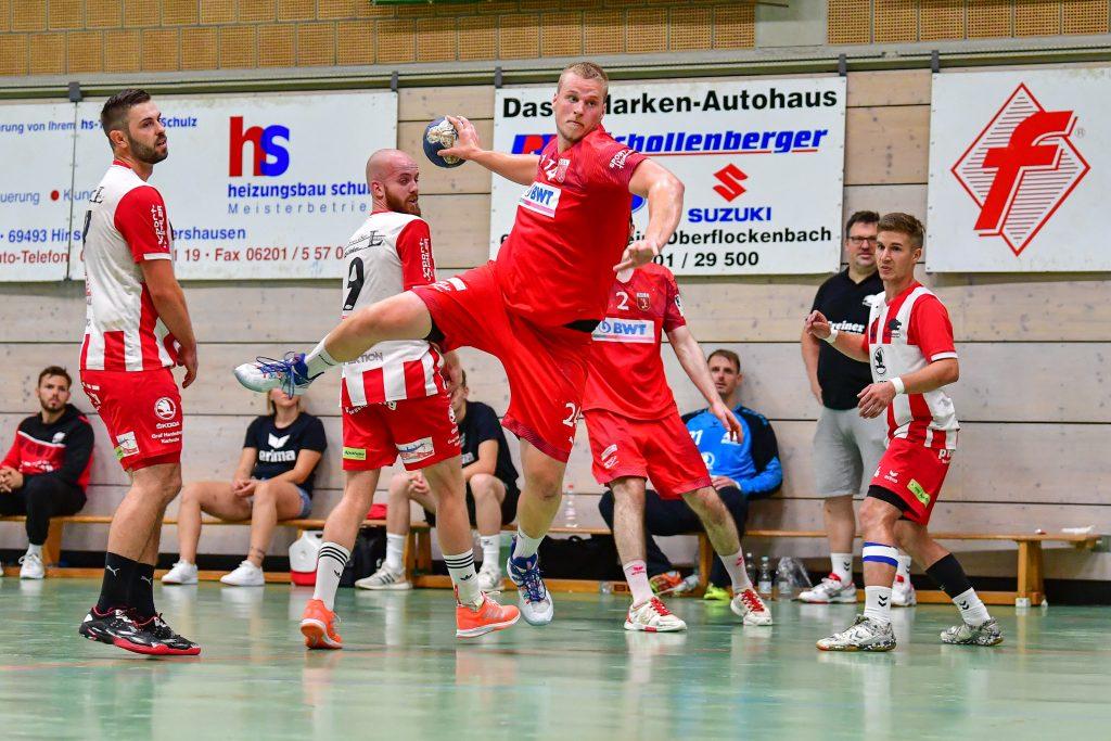 Kreisläufer Lukas Wichmann beim Löwen-Cup in Heddesheim.