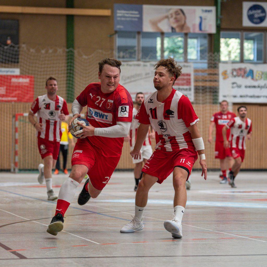 Max Schmitt von der SG Leutershausen im Spiel gegen die SG Heddesheim.